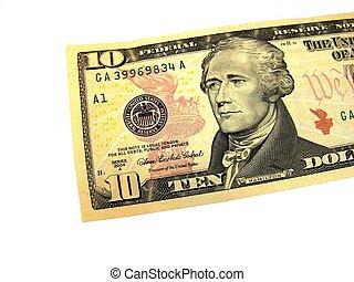 nuovo, dieci dollaro, bill.