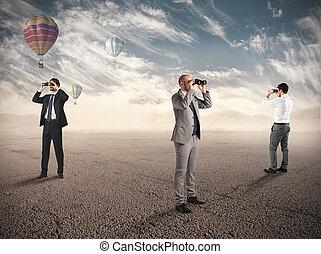 nuovo, esplorazione, affari, opportunità