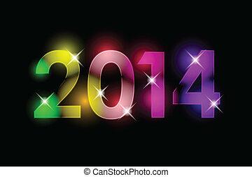 nuovo, felice, -, 2014, anno
