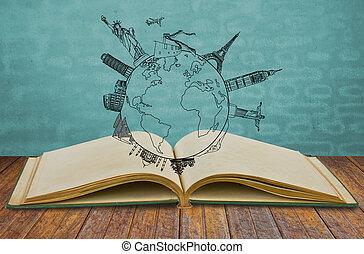 nuovo, libro, york, viaggiare, (japan
