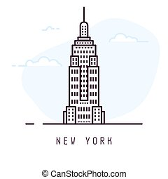 nuovo, linea, stile, york