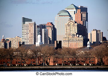 nuovo, manhattan, grattacieli, stati uniti, york