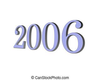 nuovo, marca, 3d, 2006, anno
