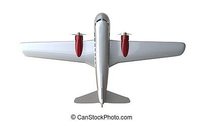 nuovo, metallico, aereo giocattolo