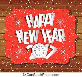 nuovo, natale felice, allegro, anno