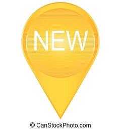 nuovo, new., illustration., segno