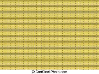 nuovo, parete mattone gialla