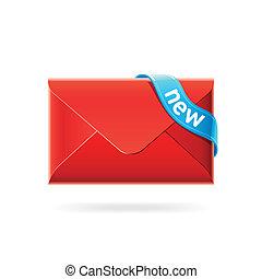 nuovo, posta elettronica, icona