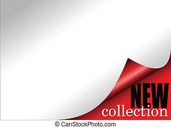 nuovo, riccio, carta, collezione