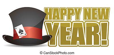 nuovo, segno, felice, illustrazione, anno