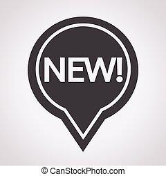 nuovo, segno, icona