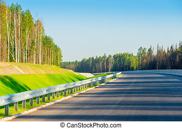 nuovo, xx, foresta, strada