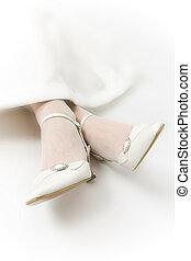 nupcial, sapatos