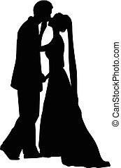 nuptial, couple
