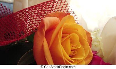 nuptial, rose, grand plan, roses, orange, bouquet