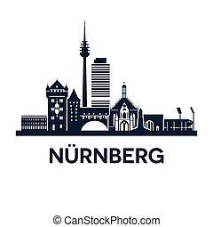 nuremberg, emblème, horizon