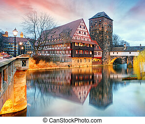 Nuremberg, Germany at Bridge.