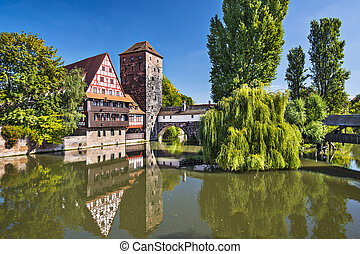 Nuremberg Germany - Executioner's bridge in Nuremberg,...
