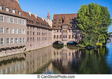 Nuremberg, Germany on the Pegnitz River