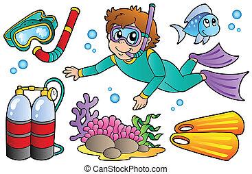 nurkowanie, scuba, zbiór