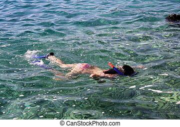 nurkowanie, snorkel