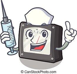 Nurse ampere meter in the cartoon shape vector illustration