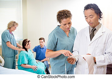 Nurse and Doctor with CTG report