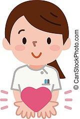 Nurse and Heart