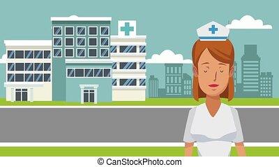 Nurse and medicine HD animation
