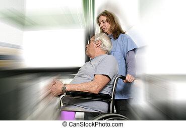 nurse and patient blured