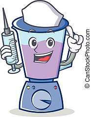 Nurse blender character cartoon style