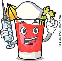 Nurse bloody mary character cartoon vector illustration