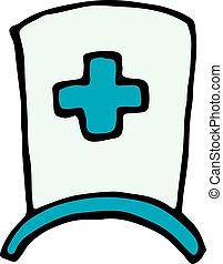 nurse cap icon isolated on white background