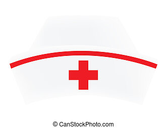 Nurse cap on white background