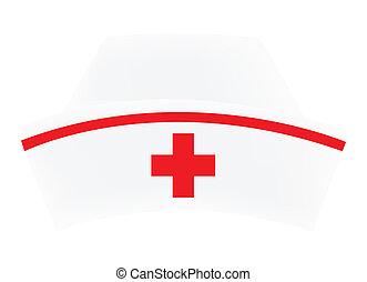 Nurse cap on white background