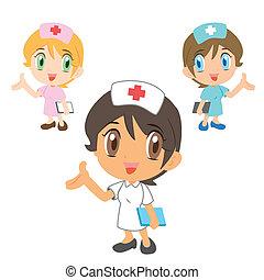 nurse ,cartoon character