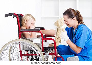 nurse cheer up sad patient - nurse cheer up sad little girl...