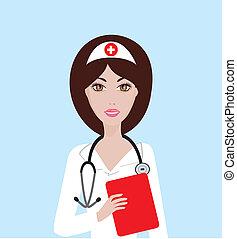 Nurse - Vector illustration of a nurse