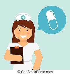 Nurse design, vector illustration 10 eps graphic