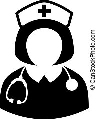 Nurse doctor in medical uniform vector icon