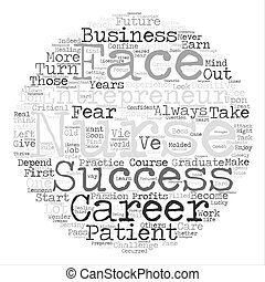 nurse entrepreneur text background word cloud concept