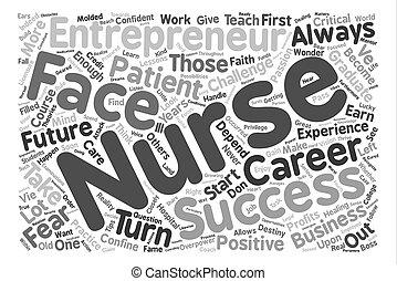 nurse entrepreneur Word Cloud Concept Text Background
