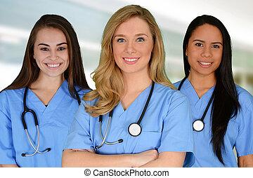 Nurse - Female nurse working her job in a hospital