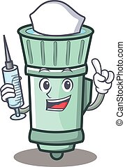 Nurse flashlight cartoon character style