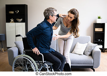 Nurse Giving Care To Older Patient