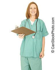 Nurse Giving Clip Board