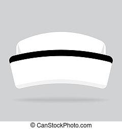 nurse hat isolated on background