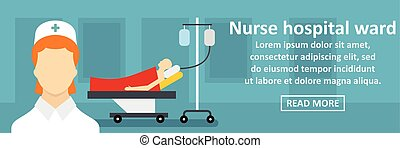 Nurse hospital ward banner horizontal concept