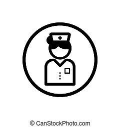 Nurse icon on a white background