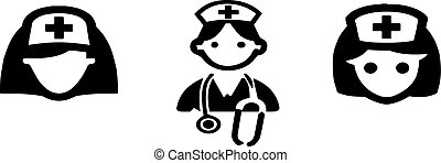 nurse icon on white background